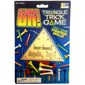 Wooden Tricky Triangle Game G01-0159907-1000 - Wooden Tricky Triangle Game.