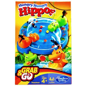Hungry Hungry Hippos® Grab&Go G01-0260103-2102-a single travel sized game.