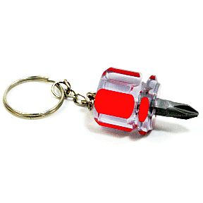 Stubby Screwdriver Keychain - Phillips H03-0159905-8100-A single Stubby, Philips Head Screwdriver on a keychain.