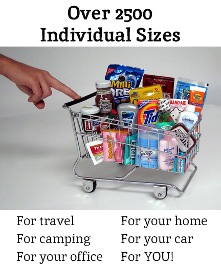 Individual and travel sizes