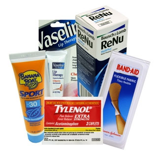 Travel Size Pharmacy and First Aid Products