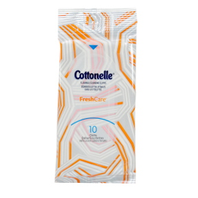 Cottonelle® FreshCare Flushable Cleansing Cloths J01-0286402-8300-Resealable pack of 10 cleansing cloths.