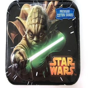Star Wars™ Episode VII Cotton Swab Tins 30 Count - J01-0509904-9100 - Travel size reclosable tin of 30 cotton swabs. Various designs