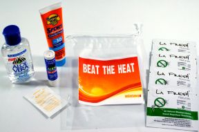 Beat the Heat Sun Care Kit K01-0359903-1100 - Enjoy the sun but beat the heat with sunscreen, insect repellent, lip balm, and more, designed to keep you comfortable outdoors.