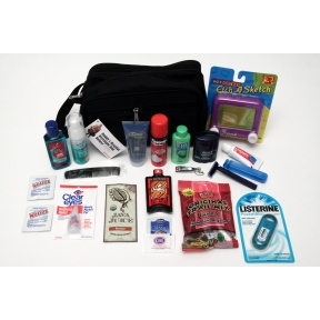 Daddy's Hospital Overnight Bag Deluxe K01-0459914-5200 - Everything a new daddy needs for his stay at the hospital with mom packed inside a convenient men's toiletry bag.