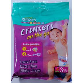 Pampers Cruisers Changing Kit Size 3 Travel Size