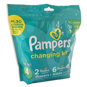 Pampers 2 ct. Changing Kit - Size 4 K01-0539705-1424