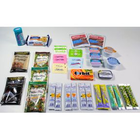 Simply Sugar Free Sampler K01-2059904-1100 - 21 different travel size products (34 total) in a slider zippered polybag