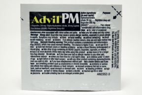 Advil PM P01-0110403-1000 - 2 caplets in a travel size individually sealed packet.