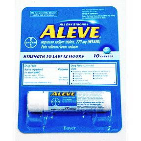 Aleve® All Day Strong® Tablets Vial - 10 count P01-0110701-8200-10 count vial of  Aleve®All Day Strong®. Strength to last 12 hours.