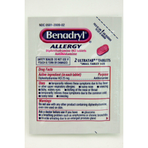 Benadryl® Allergy UltraTabs® P01-0111101-1000