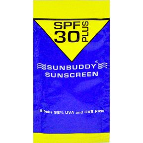 Sunbuddy Sunscreen (for babies) P04-0129001-11000.5 fl oz travel size sunscreen in individually sealed packet. SPF 30 plus.
