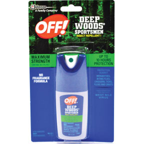 OFF!® DEEP WOODS® Sportsmen Insect Repellent P04-0131901-8100-1 oz. travel size insect repellent in plastic pump spray bottle. Maximum Strength.