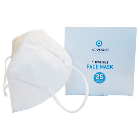 Advoque Disposable N95 Respirator Masks - 25 Pack S01-0167502-9000