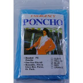 Generic Emergency Poncho - Blue S01-0409903-9000
