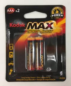 Kodak MAX Alkaline Battery AAA - 2 pack
