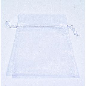 Bag, Organza, Drawstring, 4 x 6, White S04-0189943-3290