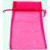 Bag, Organza, Drawstring, 6 x 10, Hot Pink S04-0189943-3415