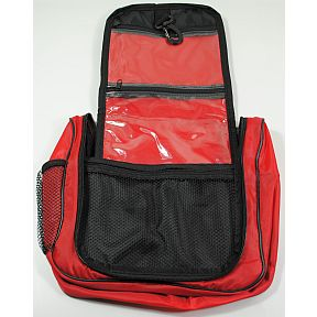 Bag, Multi Pocket Hanging Toiletry Bag Red S04-0289917-9461-red, light weight toiletry bag.