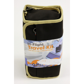 Do Good JetSet In-flight Travel Kit - Brown/Gold Trim T03-0871001-9002