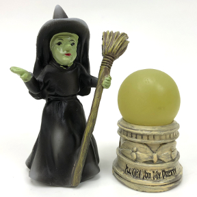 Polyresin Mini World OZ Witch & LED Ball (2 pc set), U03-0101232-0092