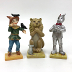 Polyresin Mini World OZ Lion, Scarecrow & Tin Man (3 pc set) , U03-0101232-0093