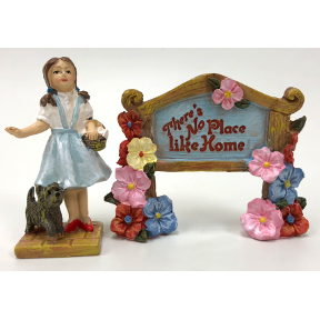 Polyresin Mini World OZ Dorothy & Sign (2 pc set), U03-0101232-0392