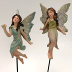 Polystone Mini Classic Fairytale Statuary - Flying Fairies on Picks (2 pc set), U03-0101232-0422