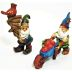 Polystone Mini Woodland Gnomes 2 (2 pc set) U03-0101232-0592-2 mini woodland gnomes. Garden décor.