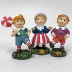 Polyresin Mini World OZ Munchkins (3 pc set), U03-0101233-0293