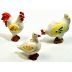 Polystone Mini Country Duck, Hen & Rooster, 3 pc set U03-0201232-0293-3 piece set. Duck, Hen, and Rooster. Garden Decor.