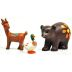 Polystone Mini Lakeside Deer, Bear & Duck U03-0201232-0493-3 pc. Set of polystone animals. Garden décor.
