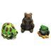 Polystone Mini Fairytale Animals, 3 pc set U03-0201232-0593-set of 3 mini fairytale animals. Bunny, turtle, frog. Garden décor.