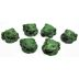 Cement Mini Frogs, 6 pc set U03-0209232-0046-6 pc set of mini frogs. Garden décor.