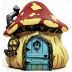 Polystone Mini Woodland Mushroom House U03-0301232-0790-a single mini mushroom house. Garden décor.