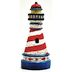 Polystone Mini Seaside Lighthouse U03-0301232-1290-a single mini lighthouse. Garden décor.