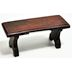 Polystone Mini Garden Bench U03-0401232-0020-a single mini garden bench. Garden décor.
