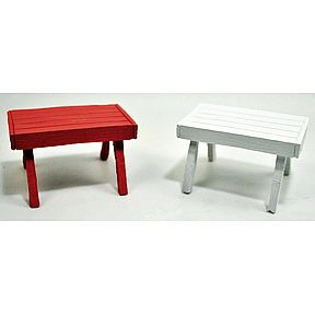 Polystone Mini Picnic Tables (2 pc set) U03-0401232-0092-set of 2 mini picnic tables. Garden décor.