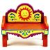Polystone Mini Fiesta Bench U03-0401232-0190-a single miniature Fiesta style bench.