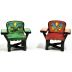 Polystone Mini Lakeside Chairs (2 pc set) U03-0401232-0192-2 piece set of miniature lakeside chairs.