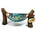 Polystone Mini Lakeside Hammock U03-0401232-0290-a single mini hammock. Garden décor.