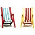 Polystone Mini Seaside Chairs (2 pc set) U03-0401232-0292-2 pc set of mini beach chairs. Garden décor.