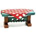 Polystone Mini Country Picnic Table U03-0401232-0590-a single mini outdoor picnic table. Garden décor.