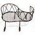 Iron Mini Garden Kiss Bench U03-0404232-0020-a single mini iron bench. Garden décor.