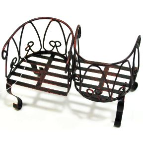 iron mini kissing bench travel size miniature products superstore