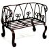 Iron Mini Garden Bench U03-0404232-0260-a single iron 2 seat mini bench. Garden décor.