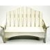 Plastic Mini Garden Bench U03-0407232-0000-a single mini bench. Garden décor.