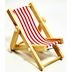 Wood & Polyester Mini Beach Chair U03-0411232-0090-a single mini beach chair. Garden décor.
