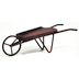 Iron Mini Garden Wheelbarrow U03-0504232-0020-a single mini iron wheelbarrow. Garden décor.