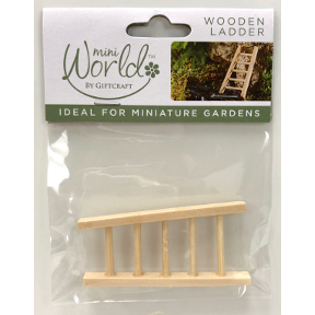 Pine Mini World Wooden Ladder, U03-0506232-0020